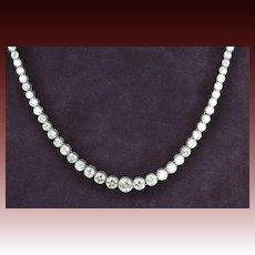 15 Carat Graduated Diamond Necklace