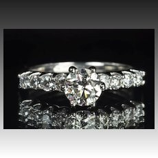 1.32 Carat Diamond Solitaire Engagement Ring / .92 Carat Center
