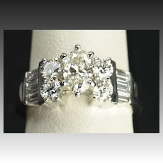 1.70 Carat Oval Diamond Engagement / Wedding Ring