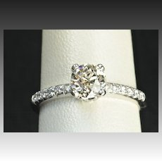 1.23 Carat Old European Cut Diamond Engagement Ring / EGL Certified