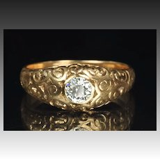 Victorian Diamond Wedding Ring