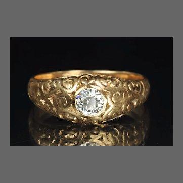 Victorian Diamond Wedding Ring