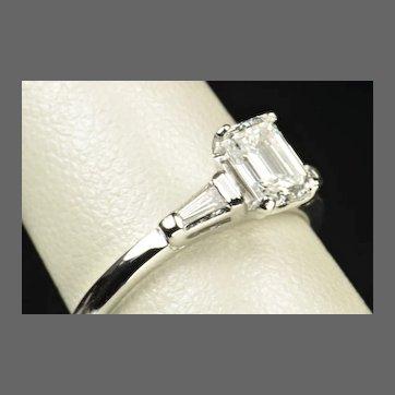 .96 Emerald Cut Diamond Engagement Ring / EGL Certified