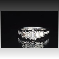1.5 Carat Emerald Cut Diamond Band