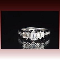 1.5 Carat Emerald Cut Diamond Band