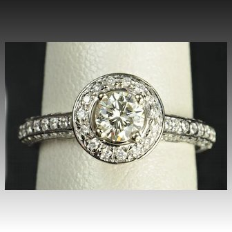 1.35 Carat Diamond Engagement / Wedding Ring
