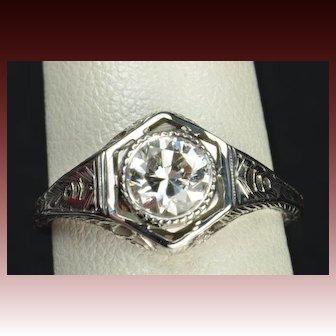 .75 Carat Edwardian Style Engagement / Wedding Ring