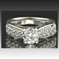 1.52 Carat Diamond Engagement Ring / 1.01 Carat Center