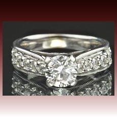 1.52 Carat Diamond Engagement Ring / 1.01 Carat Center / CLEARANCE SALE!!
