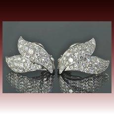 4.55 Carat Diamond and Platinum Earrings