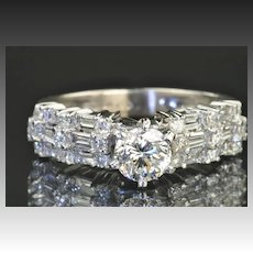1.69 Carat Diamond Engagement Ring / .73 Carat GIA Certified Center / CLEARANCE SALE!!