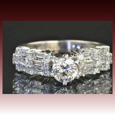 1.69 Carat Diamond Engagement Ring / .73 Carat GIA Certified Center / CLEARANCE SALE!!