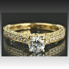 1.46 Carat Diamond Engagement Ring / .74 Carat Center / EGL Certified / CLEARANCE SALE!!