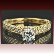 1.46 Carat Diamond Engagement Ring / .74 Carat Center / EGL Certified / CLEARANCE SALE!!