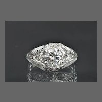 1.12 Carat Diamond Art Deco Style Wedding / Engagement Ring / CLEARANCE SALE!!