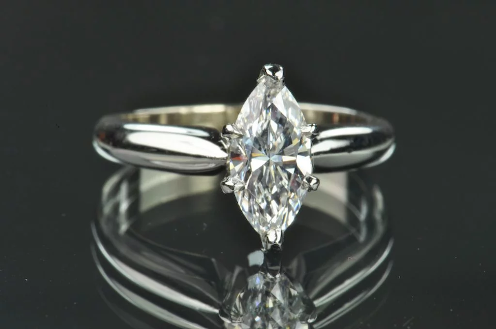 73 Carat Marquise Diamond Solitaire Gia Certified Timeless Antiques Ruby Lane