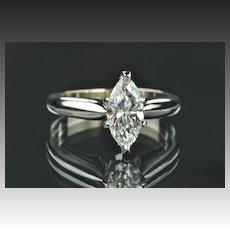 .73 Carat Marquise Diamond Solitaire / GIA Certified