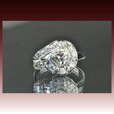 1.5 Carat Vintage Diamond Ring / .75 Carat Center / CLEARANCE SALE!
