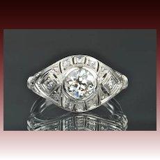 1.31 Carat Old European Diamond Ring / 1.13 Center / EGL Certified