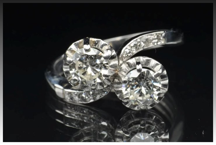 150 Carat Twin Diamond Wedding Ring CLEARANCE SALE Timeless