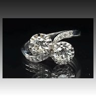 1.50 Carat Twin Diamond Wedding Ring / CLEARANCE SALE!!