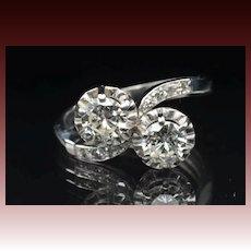 1.50 Carat Twin Diamond Wedding Ring / CLEARANCE SALE!!
