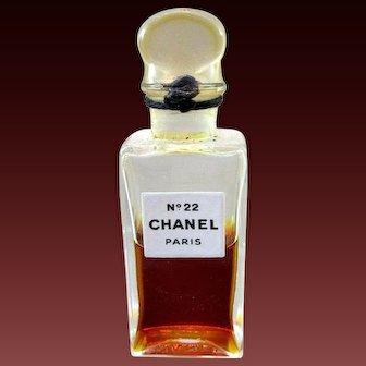 Vintage Sealed Chanel No. 22 Perfume Bottle Tester