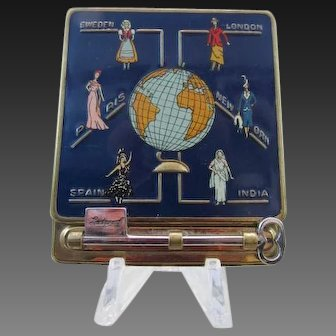 On Sale - Hingeco Vanities Figural Powder Compact