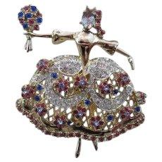Rare Coro Maria Camargo Ballet Dancer Pin