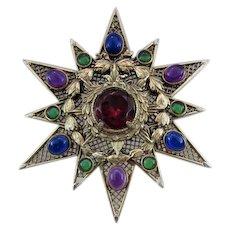 Hattie Carnegie Large Star Pin/Pendant