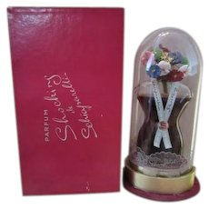 Sealed Large Schiaparelli Perfume Bottle with Dome and Box
