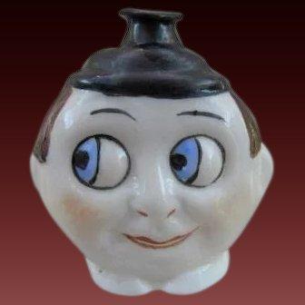 Vintage Mold Blown Figural Perfume Bottle