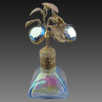 Vintage Perfume Bottle Atomizer with Iridescent Glass - DeVilbiss