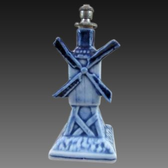 Figural Windmill Crown Top Perfume Bottle