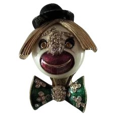 Ciner Signed Figural Clown Pin