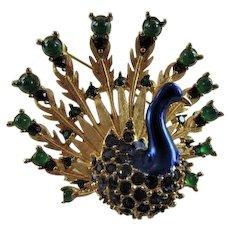 Boucher Vintage Figural Peacock Pin
