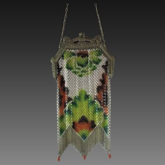 Mandalian Mesh Purse with Drops