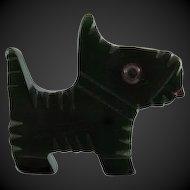 Figural Vintage Bakelite Doggie Pin