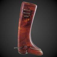 Vintage Bakelite Riding Boot Pin