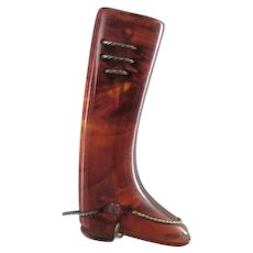 Vintage Bakelite Riding Boot Pin