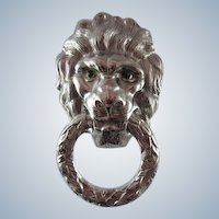 Castlecliff Lion Head Door Knocker pin