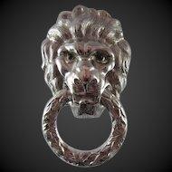 Castlecliff Lion Head Door Knocker pin