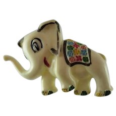 Elephant Figural Celluloid Pin