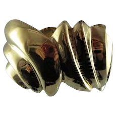 Chunky Ciner Hinged Bracelet