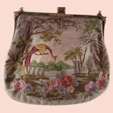 Figural Petit Point Vintage Purse