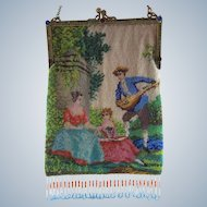 Figural Beaded Purse with Jeweled Frame
