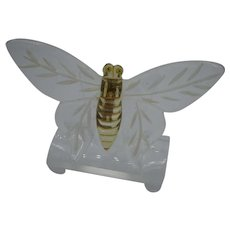 Lucite Figural Reverse Carved Butterfly Pin