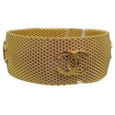 Chanel Woven Mesh Logo Bracelet