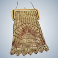Enameled W & D Mesh Purse with Box