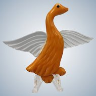 Lucite and Bakelite Duck Pin